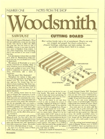 Woodsmith #1